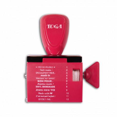 Tampon à molette 12 messages Fait main - Toga