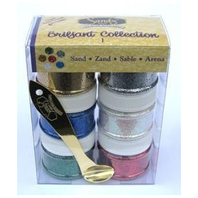 Sable brillant Sandy Art - collection 1 – set de 6 pots