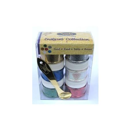 Sable brillant Sandy Art - collection 1 – set de 6 pots