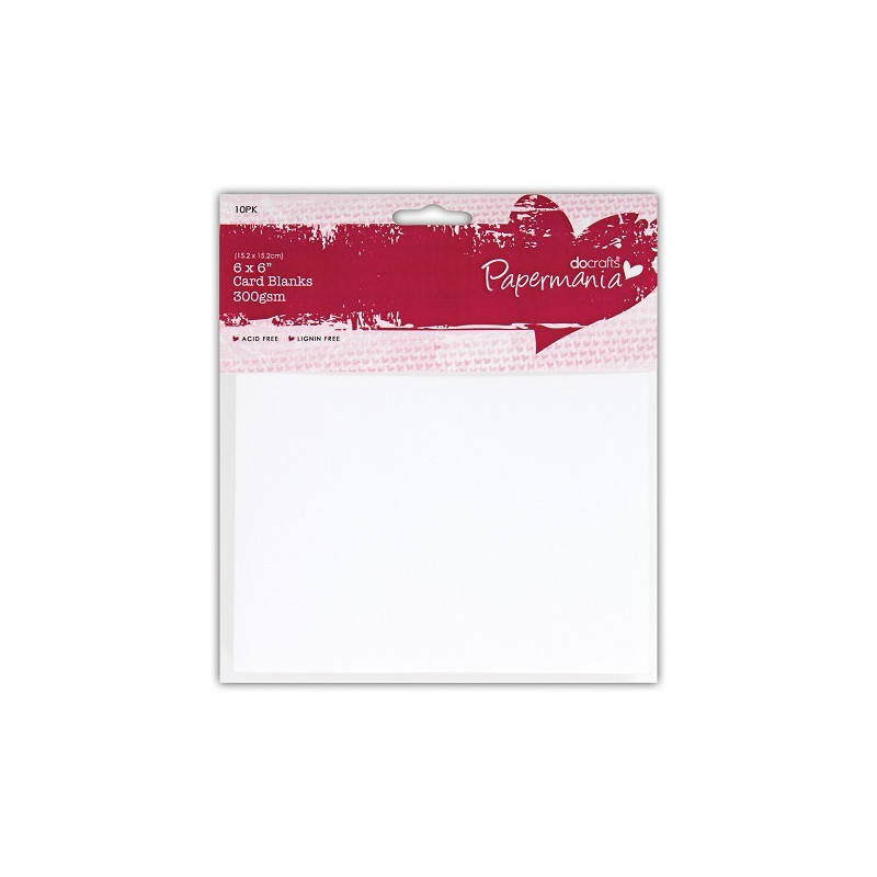 Cartes et enveloppes blanches 15,2x15,2 – 10p – Docrafts Papermania