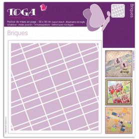 Pochoir de mises en page Briques 30x30 cm - Toga