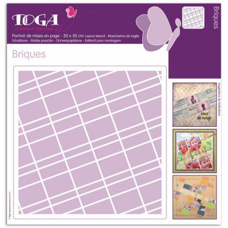 Pochoirs de mises en page Briques 30x30 cm - Toga