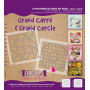 Pochoirs de mises en page Duo Grand Carré et Grand Cercle 30x30 cm - Toga
