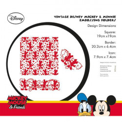 Classeurs de gaufrage Mickey et Minnie - Vintage Disney Mickey & Minnie Embossing Folders