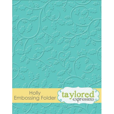 Classeur de gaufrage Houx - Taylored Expressions Embossing Folder Holly
