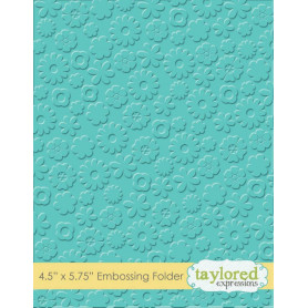 Classeur de gaufrage Flower Power - Taylored Expressions Embossing Folder