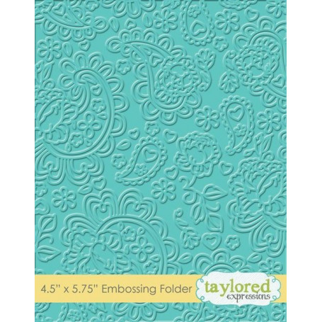 Classeur de gaufrage Paisley - Taylored Expressions Embossing Folder