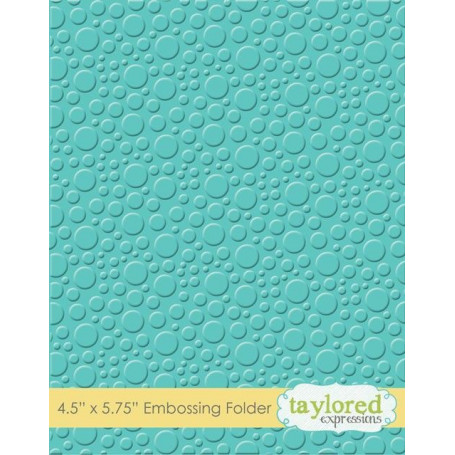 Classeur de gaufrage Bulles - Taylored Expressions Embossing Folder Bubbles