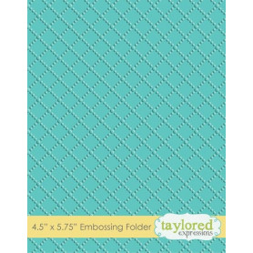 Classeur de gaufrage Dotted Lattice - Taylored Expressions Embossing Folder