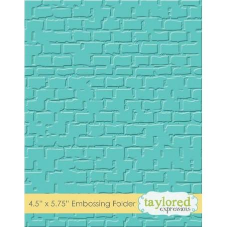 Classeur de gaufrage Briques - Taylored Expressions Embossing Folder Brick