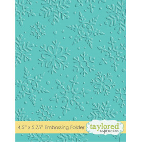 Classeur de gaufrage Flocons - Taylored Expressions Embossing Folder Winter Flurry