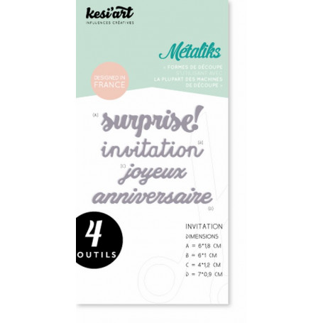 Dies métaliks invitation - Kesi'art