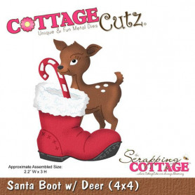 Die Santa Boot With Deer - CottageCutz - Scrapping Cottage