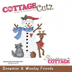 Die Snowman & Woodsy Friends - CottageCutz - Scrapping Cottage