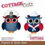 Die Captain & Sailor Owls - CottageCutz - Scrapping Cottage