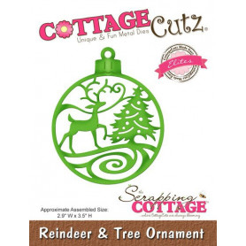 Die Reindeer & Tree Ornament - CottageCutz - Scrapping Cottage