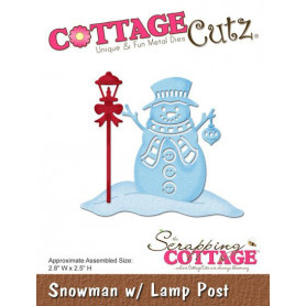 Die Snowman With Lamp Post - CottageCutz - Scrapping Cottage