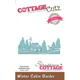 Die Winter Cabin Border - CottageCutz - Scrapping Cottage