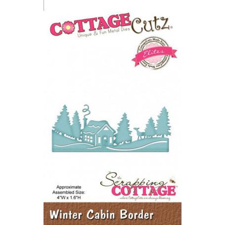 Die Winter Cabin Border - CottageCutz - Scrapping Cottage