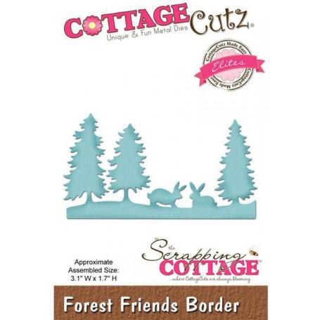 Die Forest Friends Border - CottageCutz - Scrapping Cottage