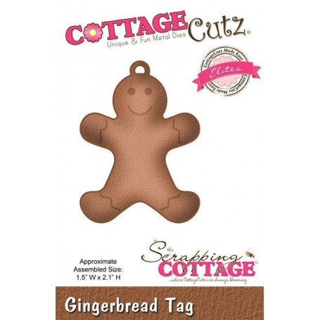 Die Gingerbread Tag - CottageCutz - Scrapping Cottage