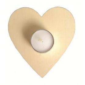Bougeoir en bois coeur à décorer - Home Déco - Artemio