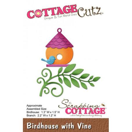 Die Birdhouse With Vine - CottageCutz - Scrapping Cottage