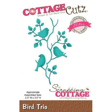 Die Trio d'oiseaux - CottageCutz - Scrapping Cottage - Die Bird Trio