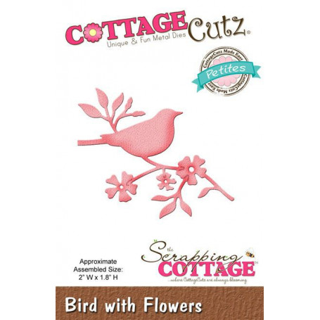 Die Oiseau - CottageCutz - Scrapping Cottage - Die Bird with Flowers