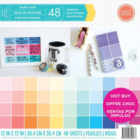 Set de papier 30x30 Paint Chip 48f - Craft Smith