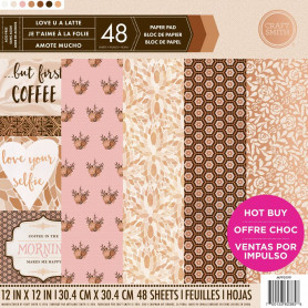 Set de papier 30x30 Love U a Latte 48f - Craft Smith