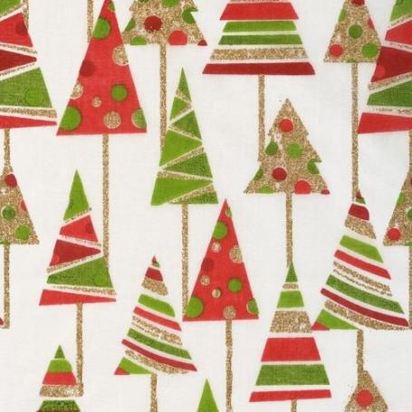 Tissu décoratif Sapin Rouge/Vert Creapop - Hobbyfun