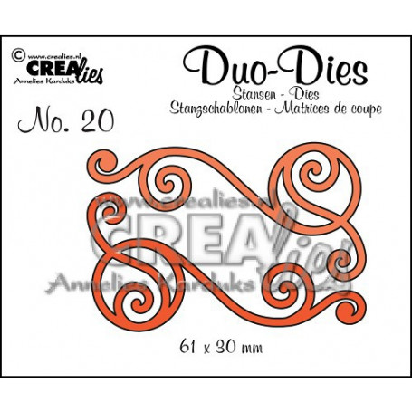 Duo Dies no. 20 Swirls 1 - Crealies