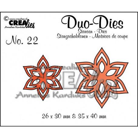 Duo Dies no. 22 Flowers 13 - Crealies