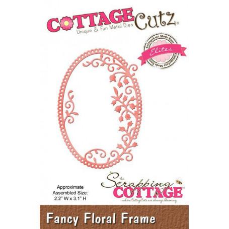 Die Fancy Floral Frame - CottageCutz - Scrapping Cottage