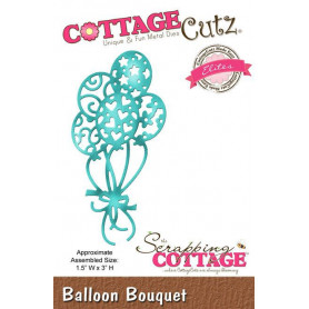 Die Bouquet de Ballons - CottageCutz - Scrapping Cottage - Balloon Bouquet Die