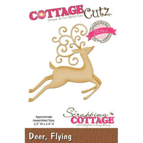 Die Deer Flying - CottageCutz - Scrapping Cottage