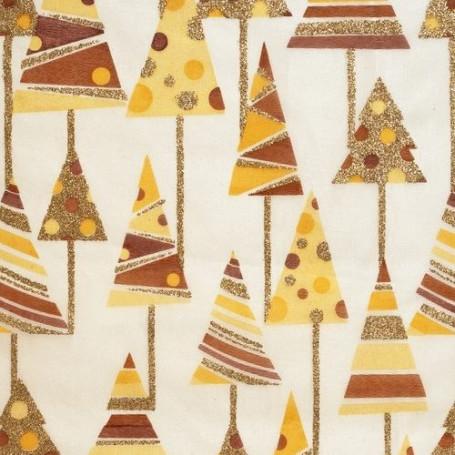 Tissu décoratif Sapin Nougat Creapop - Hobbyfun