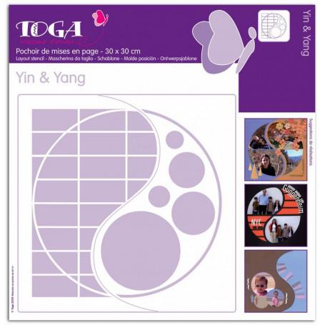 Pochoir de mises en page Yin Yang 30x30 cm - Toga