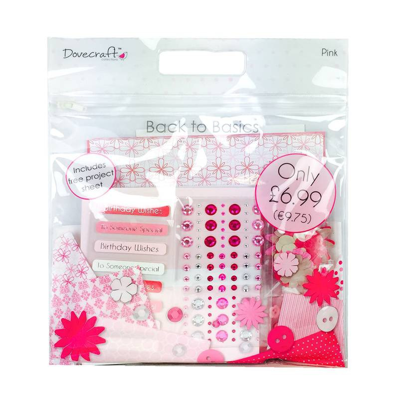 Back To Basics Goody Bag - Pink - Dovecraft