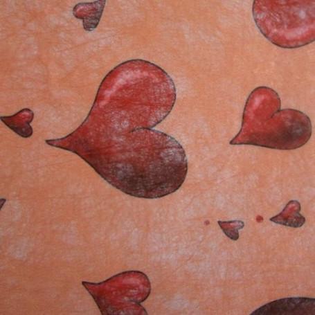 Non-tissé Amour rouge/saumon Creapop - Hobbyfun