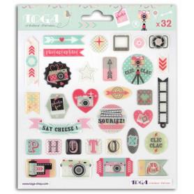 Stickers Epoxy Clic Clac 32 pc - Toga
