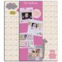 Kit Scrapbox naissance fille - 20x20 cm - Toga
