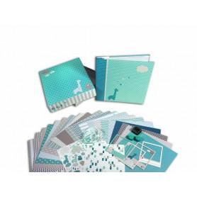 Kit Scrapbox naissance garçon - 20x20 cm - Toga