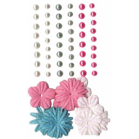 Perles adhésives et fleurs Fashionista – Artemio