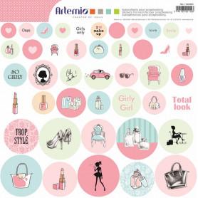 Stickers ronds Fashionista - Artemio