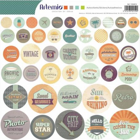 Stickers ronds Sweet Memories 30x30 - Artemio