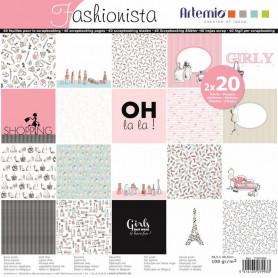 Set de papier 30x30 Fashionista – Artemio