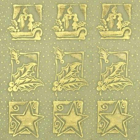 Tissu décoratif Bougies lemon-or Creapop - Hobbyfun