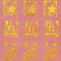 Tissu décoratif Bougies rouge-or Creapop - Hobbyfun